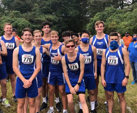 The Waves XC team placed sixth at their meet, and co-captain Bryce Harrison placed first overall.
