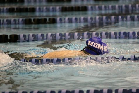 The MSMS swim team traveled to Tupelo to participate in the North Half Swim Meet.