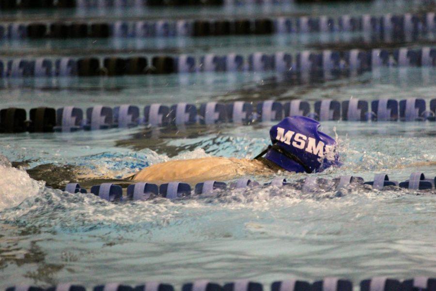 The MSMS swim team traveled to Tupelo to participate in the North Half Swim Meet.