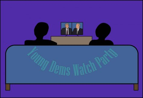 Young Democrats host debate watch party