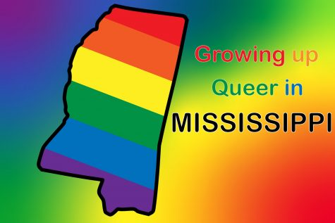 Senior Mabrie Woods grew up in Olive Branch, Mississippi. Mississippi has one of the lowest LGBTQ+ populations in America.