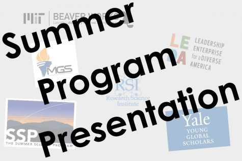 Senior Cameron Wright organized the summer program session so that juniors would get the opportunity to learn about these programs before application deadlines.