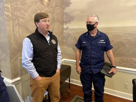 After President Trump criticized mail-in voting during this election, Tate Reeves (left) showed his support by tweeting he would never allow early voting in Mississippi while he is Governor.