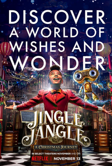 "Netflix releases another holiday film with ""Jingle Jangle,"" which follows a toymaker"
