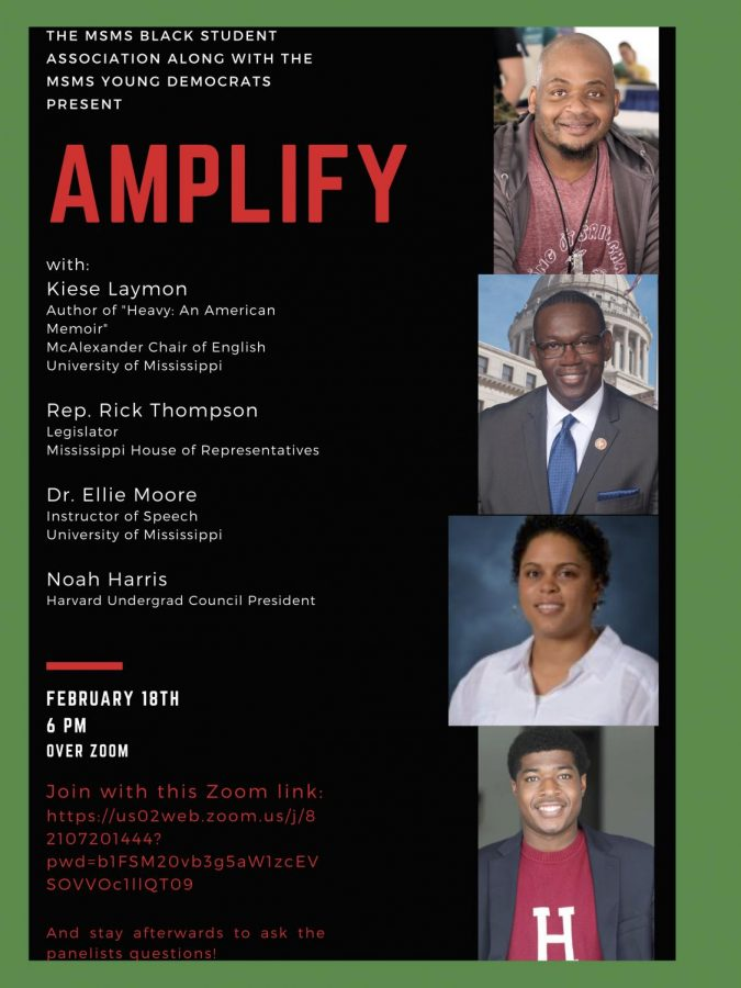 MSMS's Black Student Alliance and the Young Democrats partnered-up and hosted AMPLIFY for the second time. The wellness seminar opened up a space for Black voices to speak on America's racial and political climate.