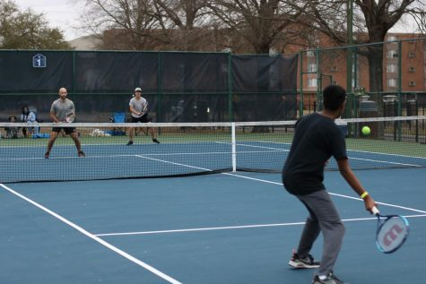 Tennis practice has started despite not all players being able to be on campus.