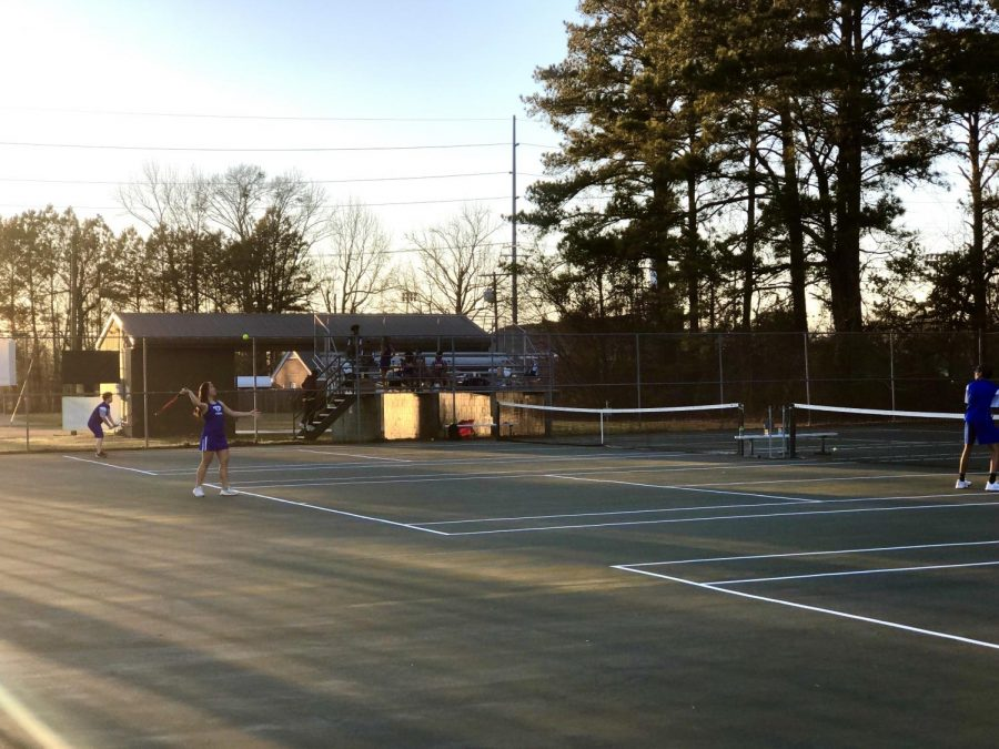 MSMS's tennis team started their season with a win against Columbus High.