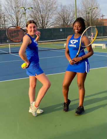 The tennis team won both of its games against Caledonia and Winona before spring break.
