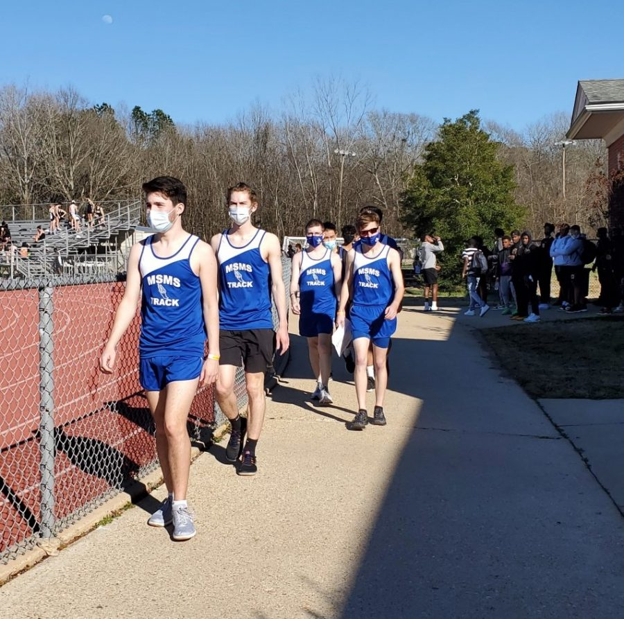 The MSMS track team participates in their first meet of the season despite not having a full practice together.