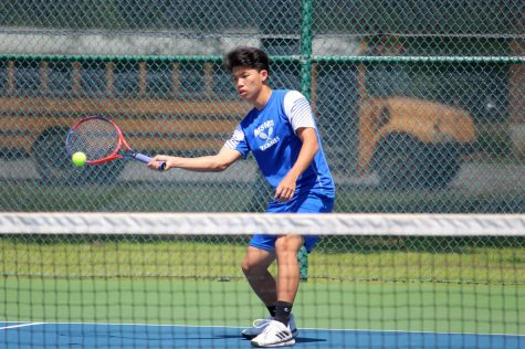The MSMS tennis team continues their winning streak by defeating Bruce High School, 7-0.