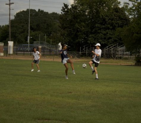 MSMS students prepare for soccer season by hosting pick-up games in the afternoon.