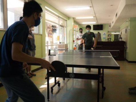 MSMS students organize and host the second annual ping-pong tournament.