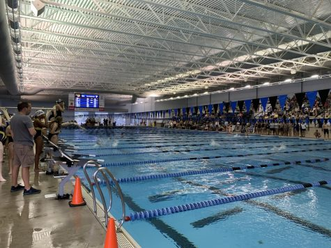 The MSMS swim team competes in their first meet of the year.